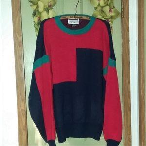 VTG 90's Multi-Color Blocked Sweater